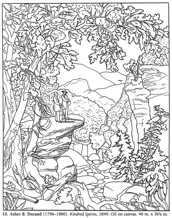600x760 Landscape Coloring Pages For Adults
