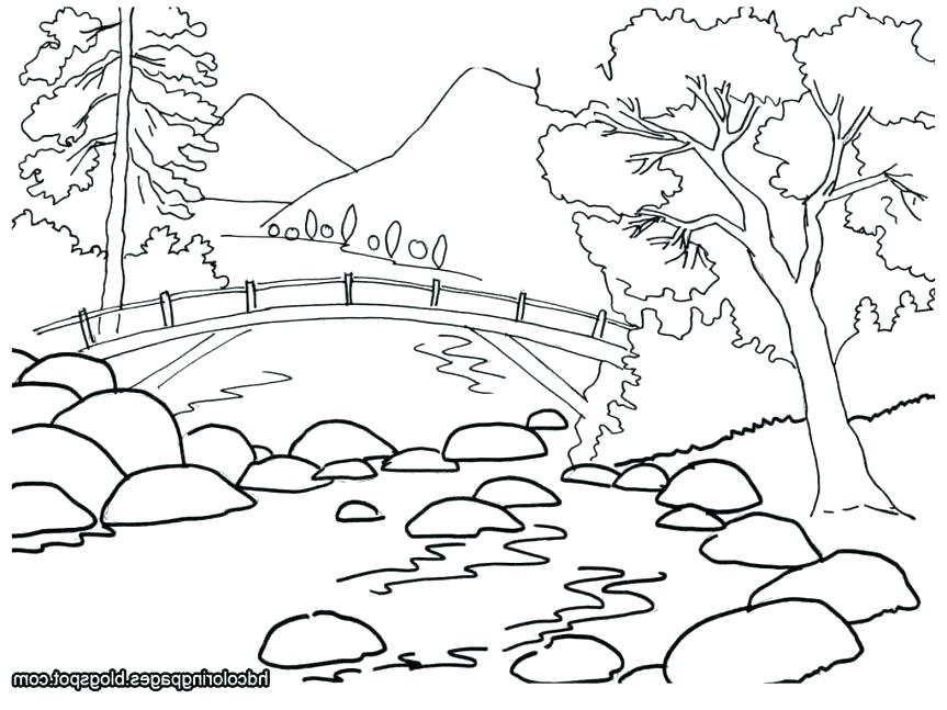 863x647 Nature Coloring Pages Free Printable Nature Coloring Pages
