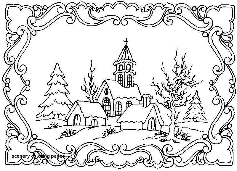 800x578 Scenery Coloring Pages