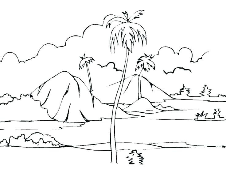 736x552 Scenery Coloring Pages S Jungle Scenery Coloring Pages