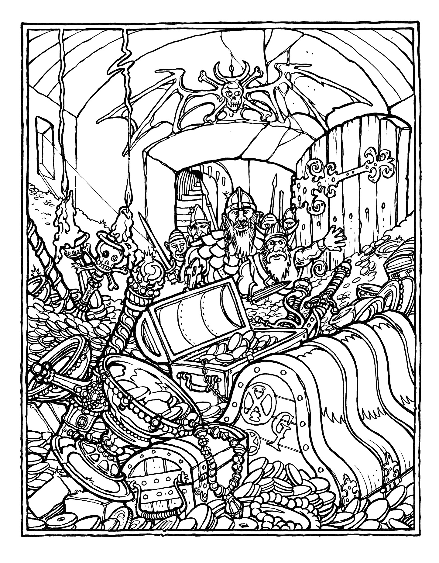 1445x1852 Best Of Free Printable Adult Coloring Pages For Scenery Gallery