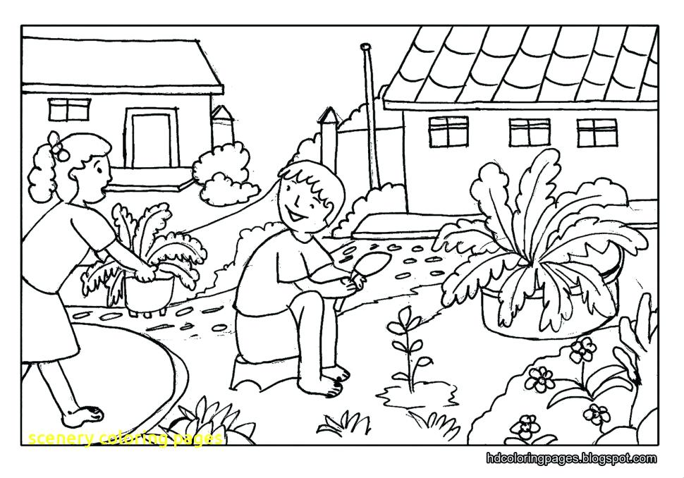 970x678 Coloring Pages Of Nature Scenery Coloring Pages With Coloring