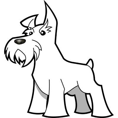 400x400 Schnauzer Dog Print Drawing Pet Art Coloring Pages