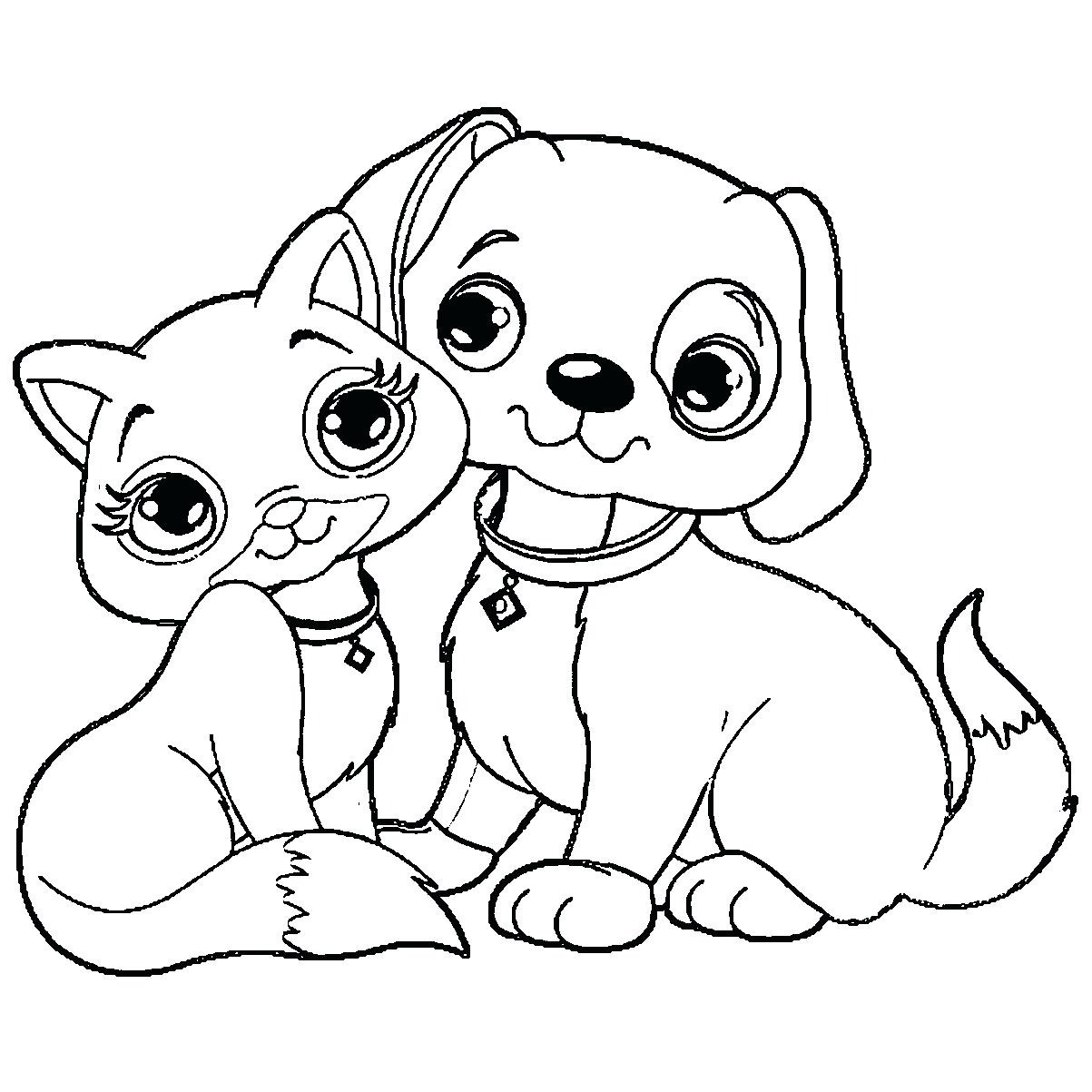 1203x1203 Coloring Page Dog And Cat Coloring Pages Beautiful Miniature