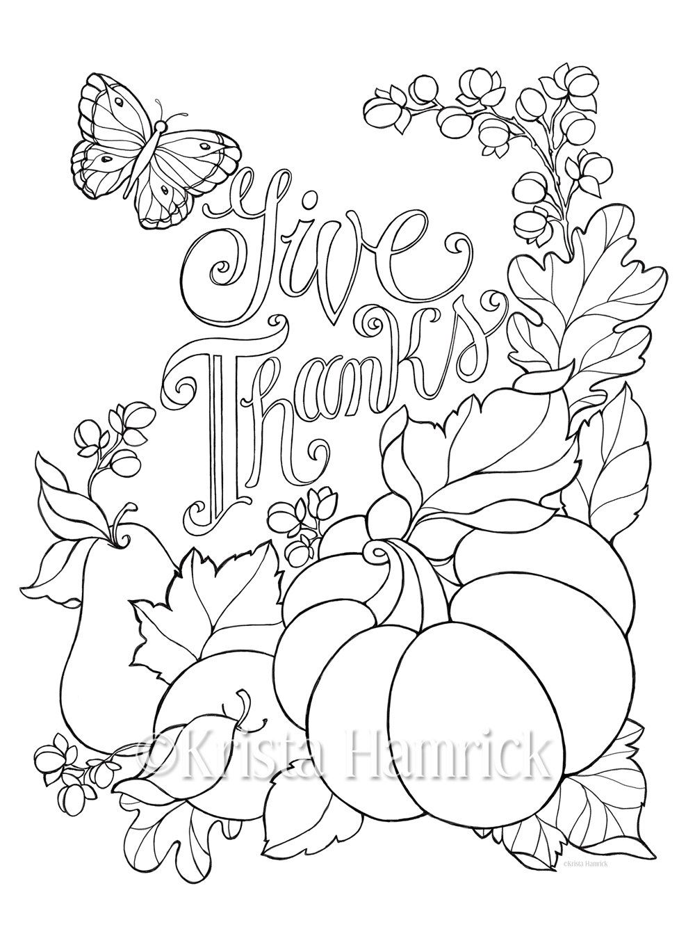 1000x1333 Give Thanks Coloring Page In Two Sizes And Bible