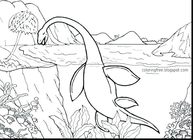 618x449 Jurassic Park Coloring Pages