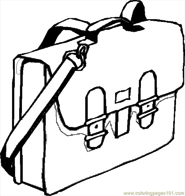 650x689 Book Bag Coloring Page