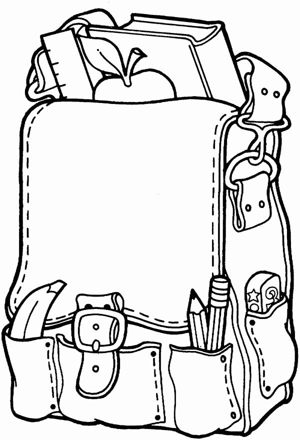 600x880 Coloring Pages Back To School Theme Elegant School Bags Drawing