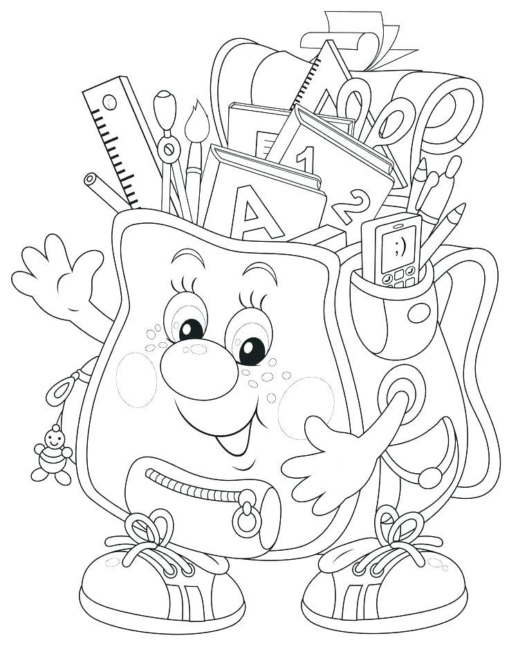 736x931 Coloring School School Bag Coloring Page School Boy Coloring Sheet