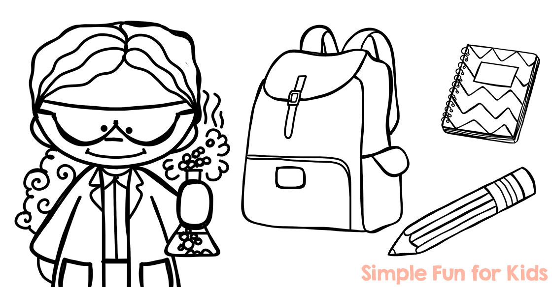 1120x584 School Bag Coloring Page Free Pages Pertaining To Prepare