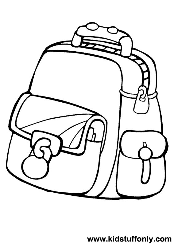 567x794 School Bag Coloring Pages