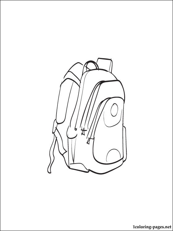 560x750 School Bag Coloring Page To Print Out Coloring Pages