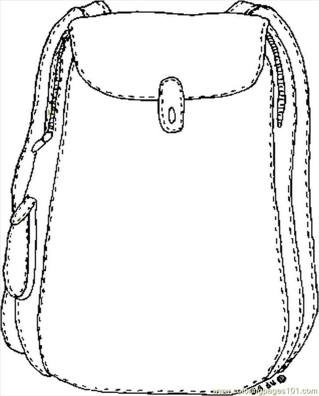 650x806 Backpack Coloring Page