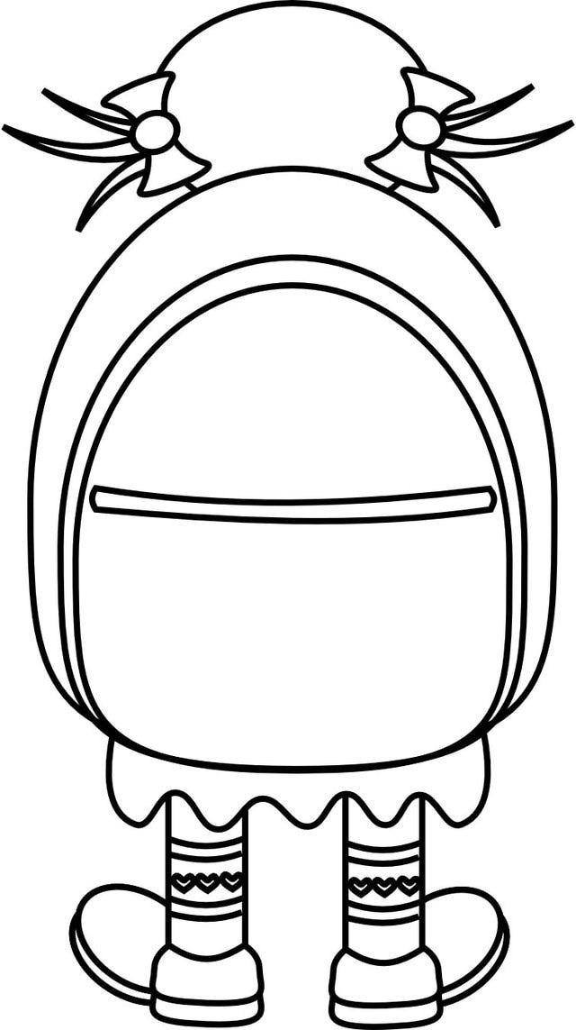640x1143 Free Coloring Pages For Girls Minion Backpacks For School