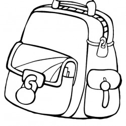 250x250 School Bag Coloring Pages Archives
