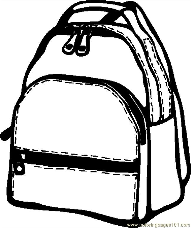650x776 Backpack Coloring Page