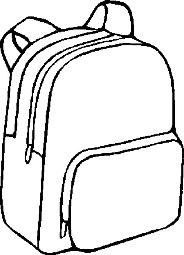 600x828 Backpack Coloring Pages