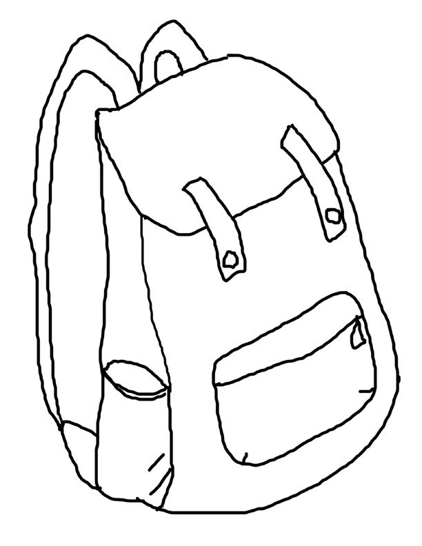 612x792 Backpack Coloring Pages