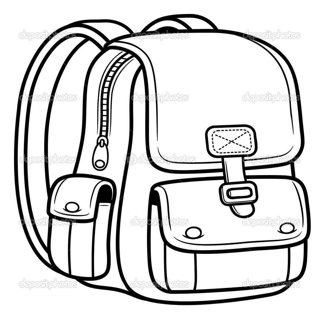1024x1024 Bag Coloring Page For Kids Coloring For Kids Bag