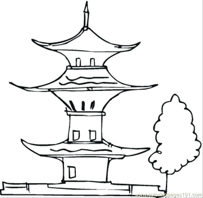 650x635 Building Coloring Pages Free Printable Building Coloring Pages