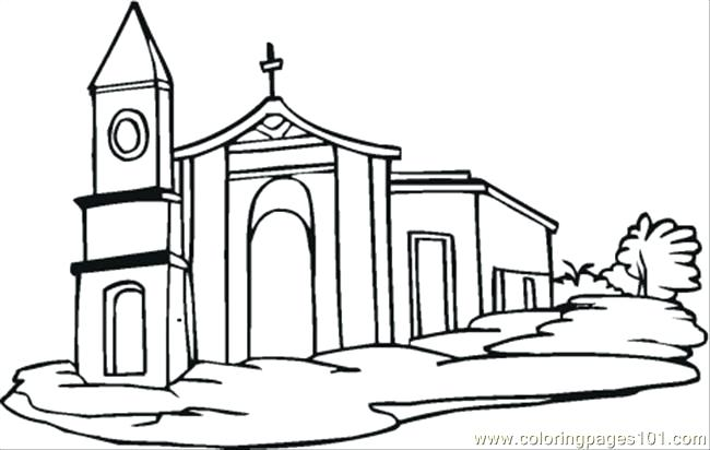 650x412 Building Coloring Pages House Coloring Pages Free Community