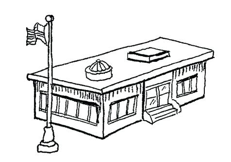 476x333 Building Coloring Pages Transparent College Building Drawing