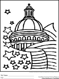236x317 Capitol Building Dome Coloring Page America