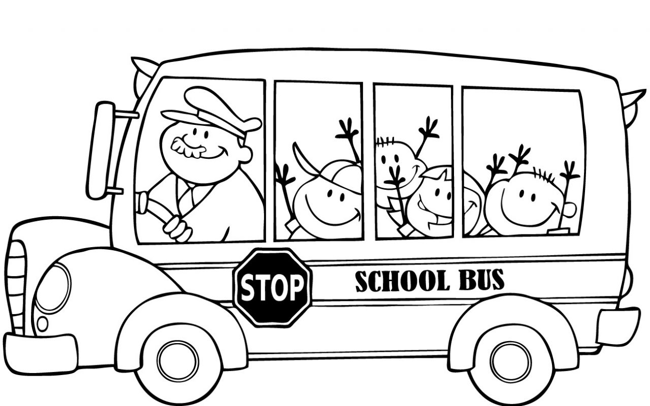 1280x800 Coloring Sheets Forhool Rules Pages Preschool Bus Printable