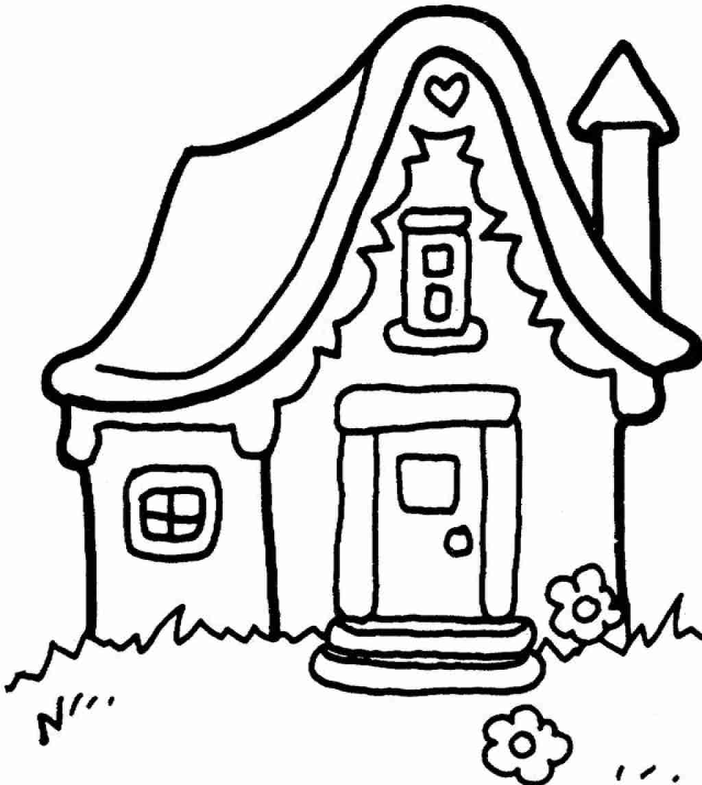 1024x1144 School Building Coloring Pages Magnificent House Page Olegratiy