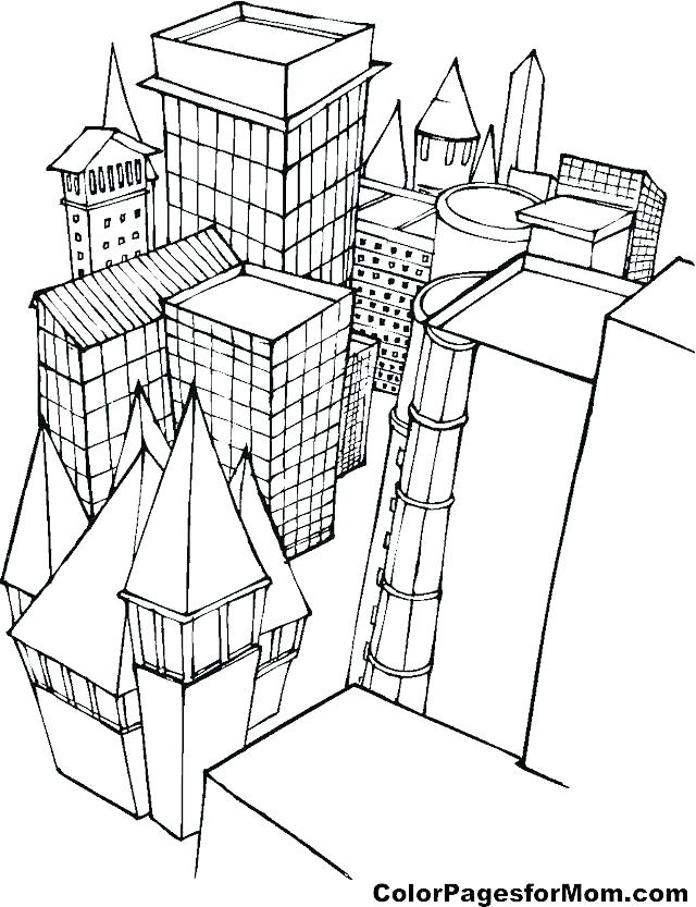 640x833 School Building Coloring Pages Top Rated Building Coloring Pages