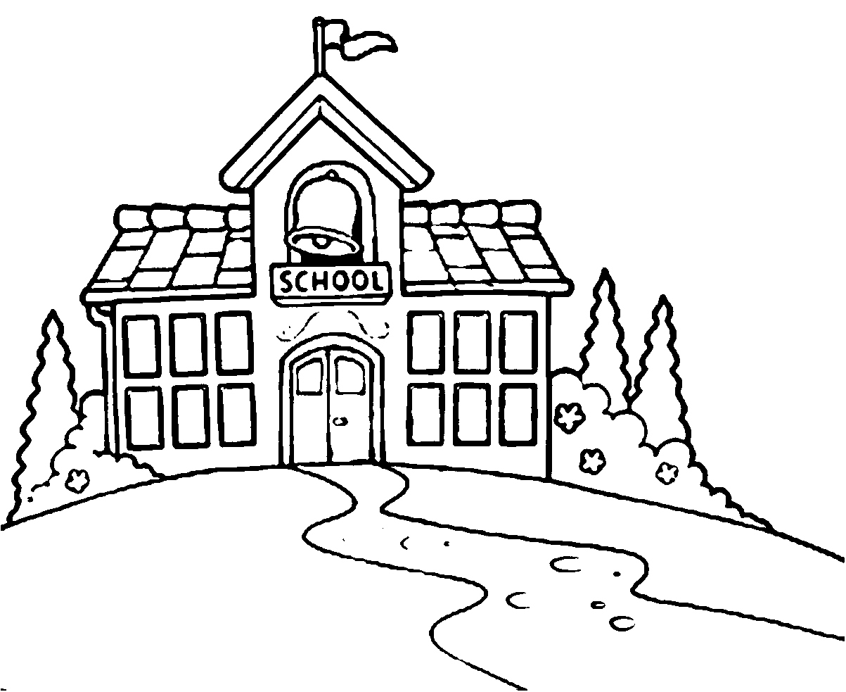 1203x983 School Coloring Pages Lovely Coloring Page A School Building