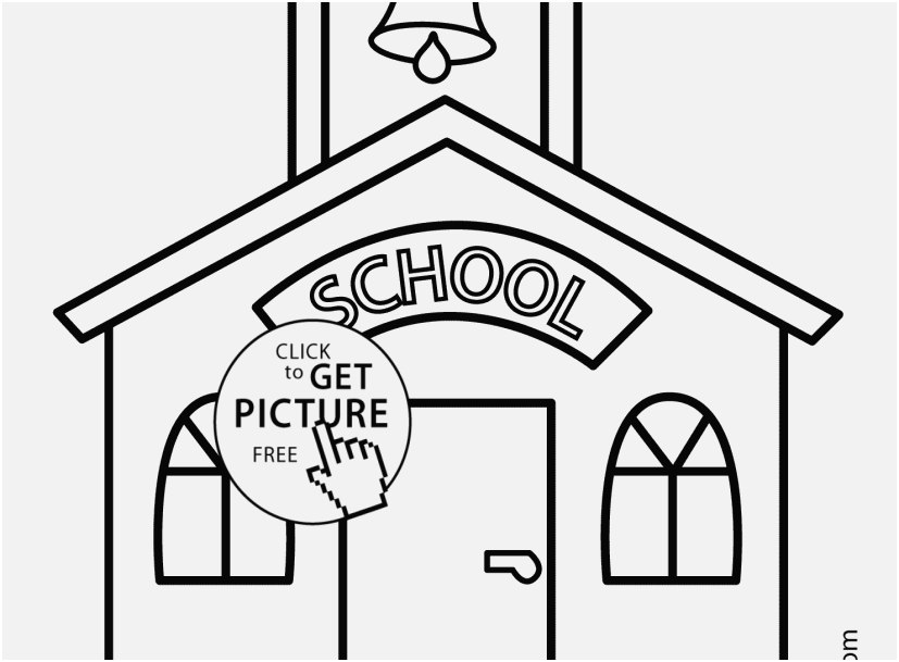 827x609 School Coloring Pages Pictures Building Coloring Page Classes