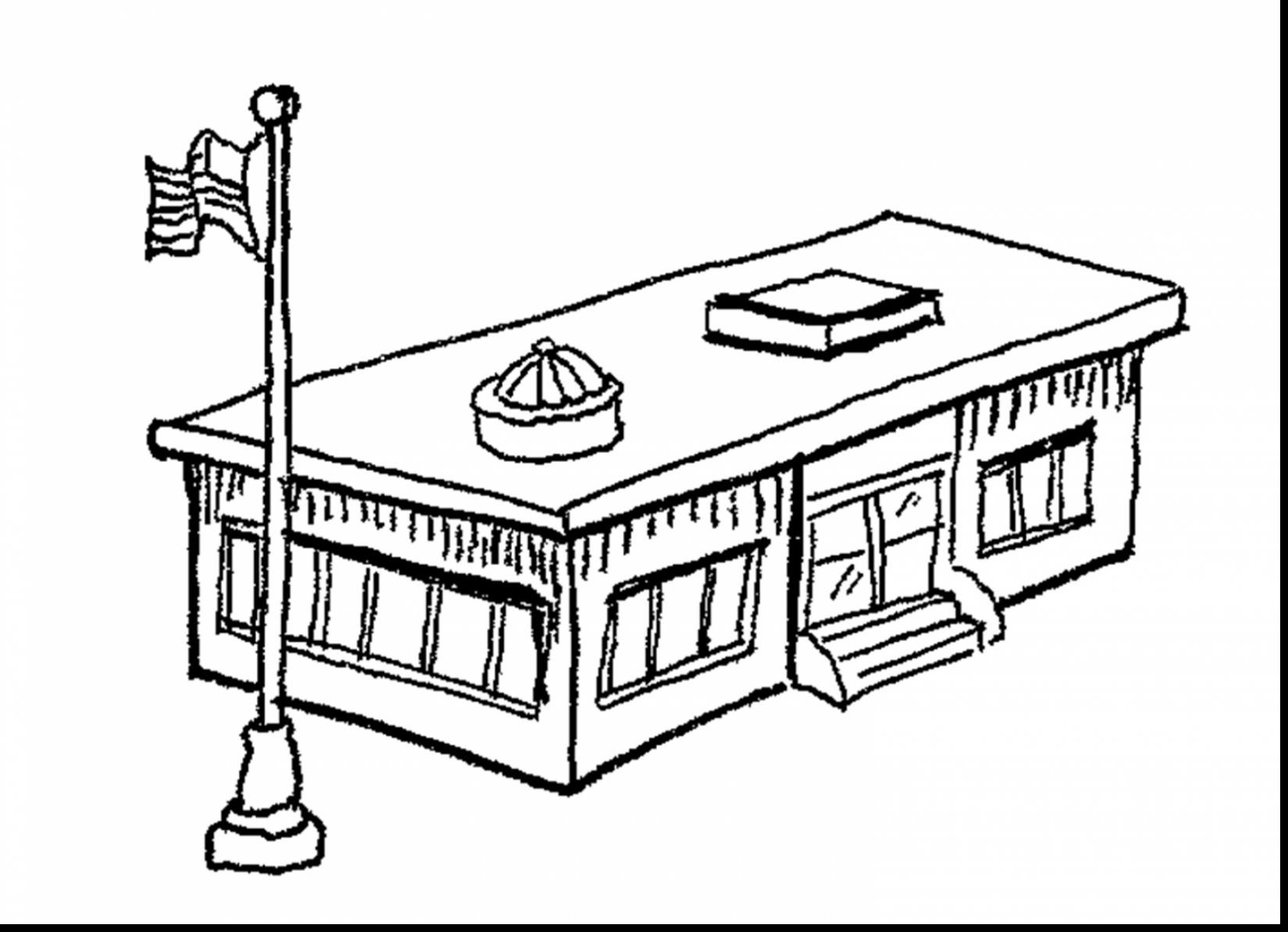 1650x1194 Selected Coloring Pages Of School Building Wonderful Pa
