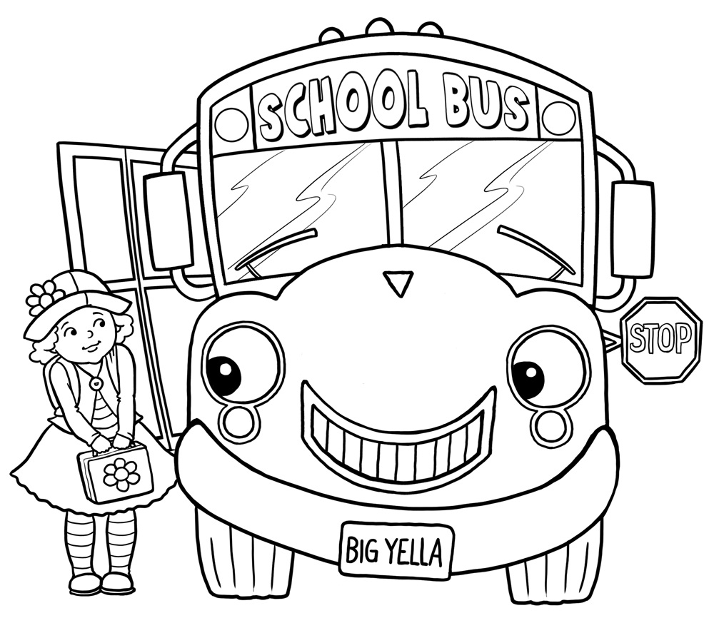 1000x894 Free Printable School Bus Coloring Pages For Kids