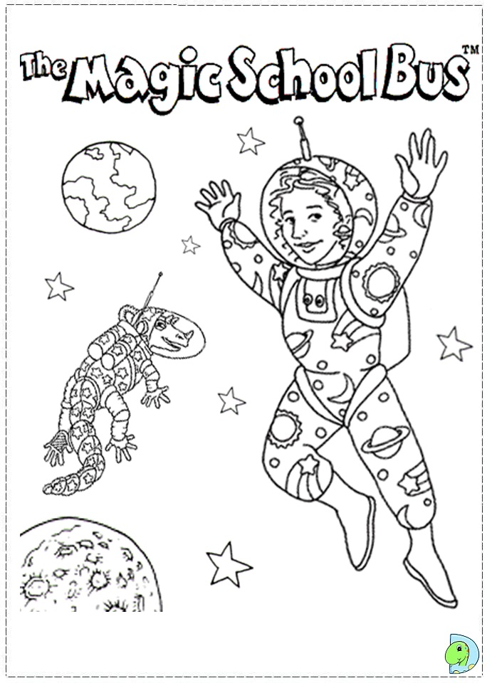 691x960 Magic School Bus Coloring Pages