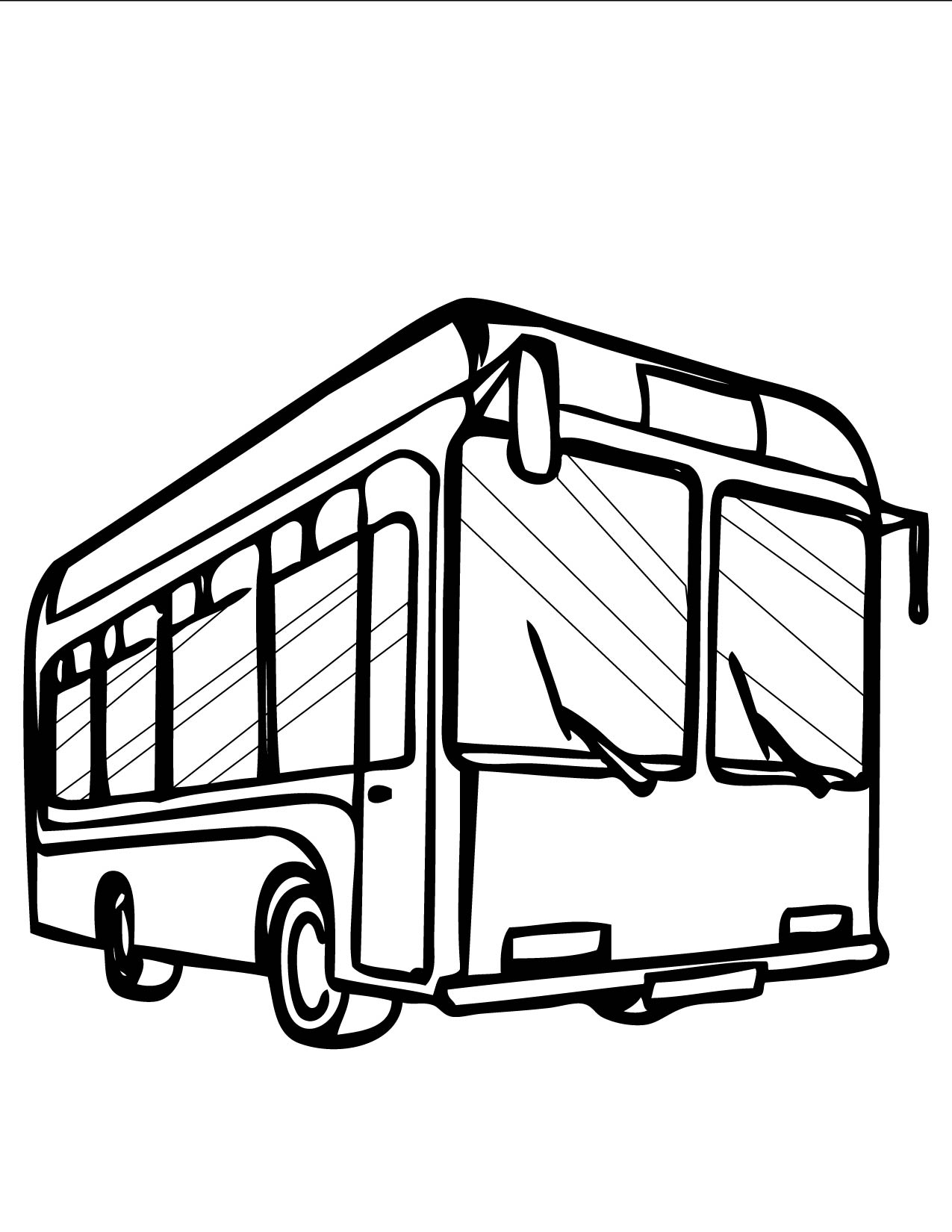 1275x1650 B For Bus Coloring Pages For School Going Kids Download