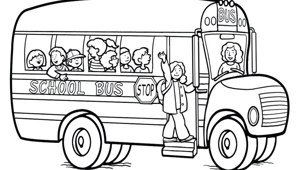 960x544 Old School Bus Coloring Page Free Printable Pages Kids For School