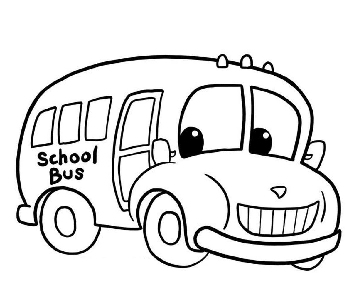 1206x1044 Printable School Bus Coloring Page For Free