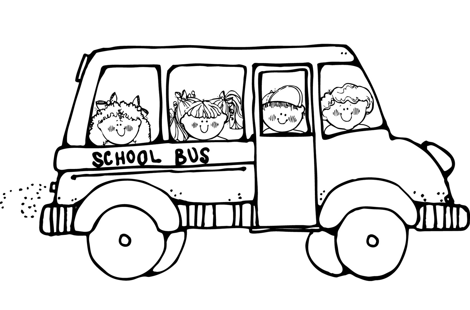 1600x1057 School Bus Coloring Page Free Printable Pages In Auto Market New