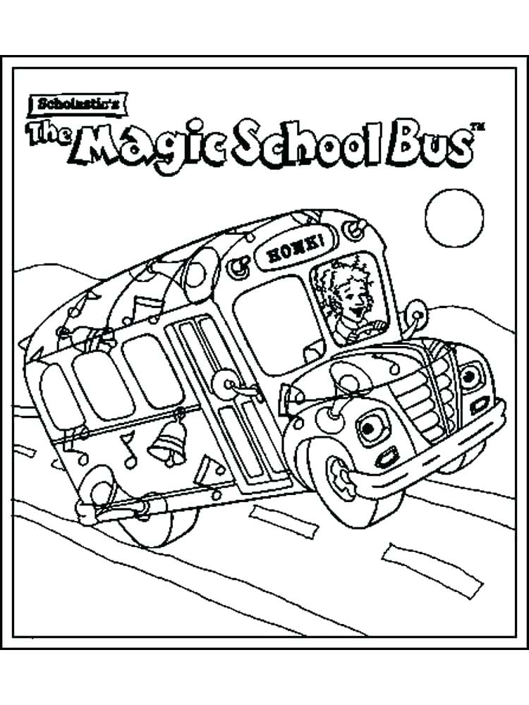 750x1000 School Bus Coloring Page With Winsome Magic School Bus Volcano