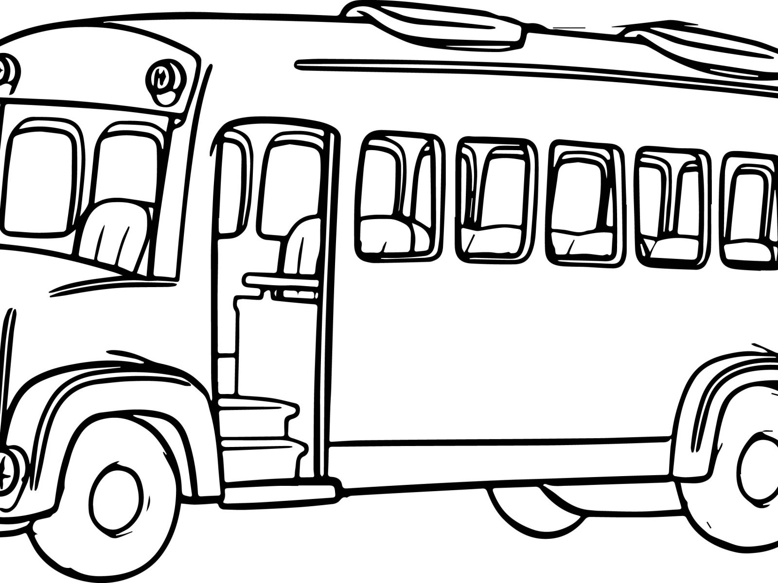 1600x1200 School Bus Coloring Pages Colors For Kids With Vehicles Free