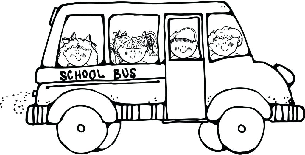 1024x520 School Bus Coloring Page Picture