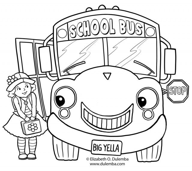 640x572 Tayo Coloring Pages Bus Coloring Page Wheels On The Bus Coloring