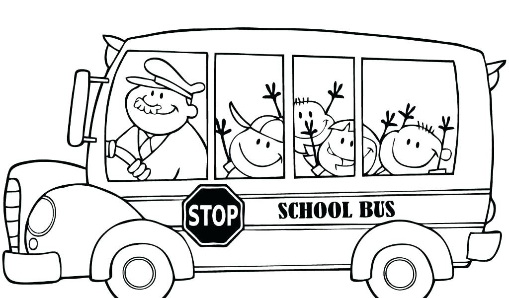 1024x600 Bus Coloring Pages Bus Coloring Page School Bus Coloring Pages