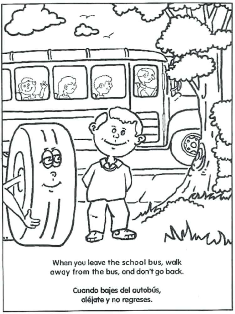 750x1000 Bus Safety Coloring Pages Coloring Pages Of School Buses