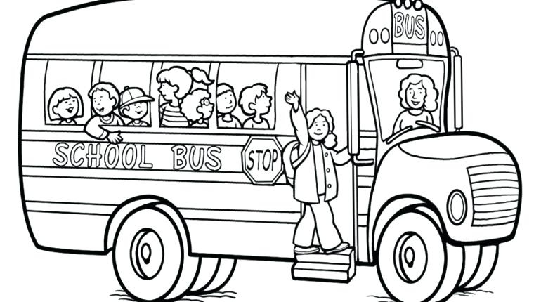 770x430 Bus Safety Coloring Sheets