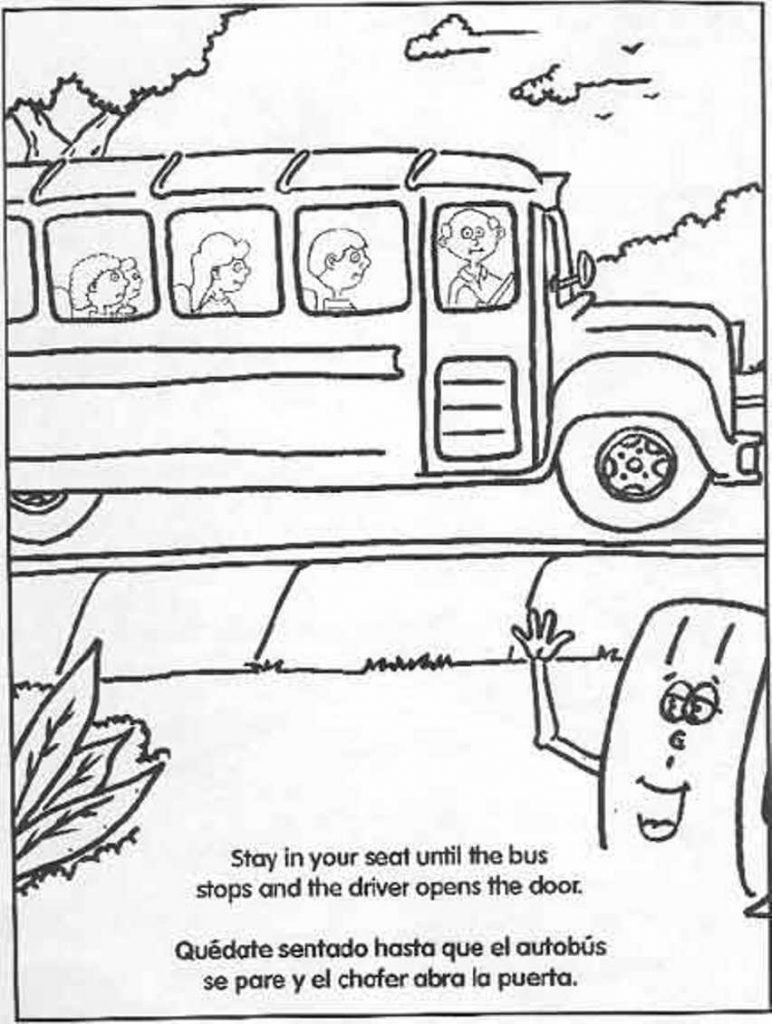 772x1024 Coloring Pages And Coloring Books Bus Safety Coloring Pages