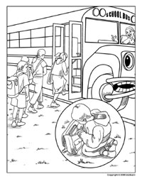 200x252 School Bus Safety Coloring Pages Online Coloring