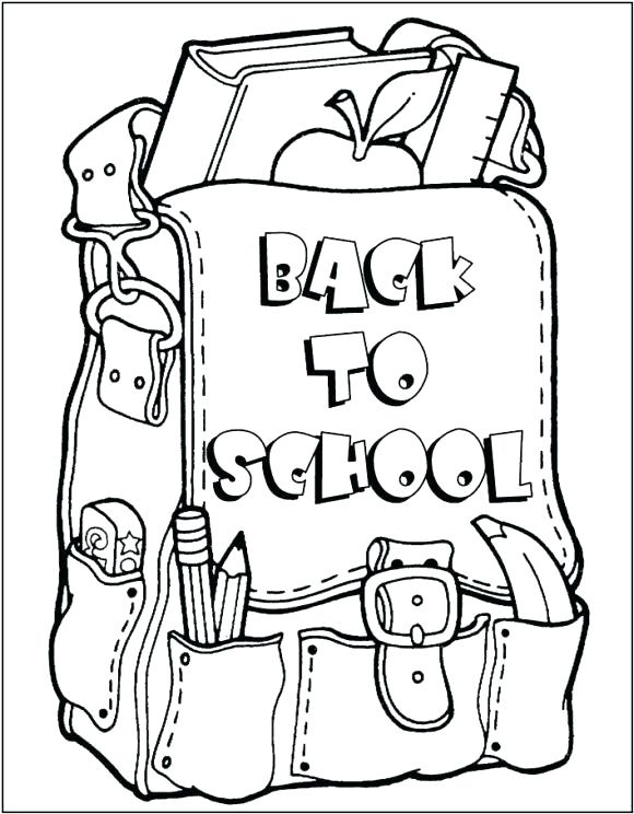 580x744 Back To School Coloring Page Back School Coloring Page Picture
