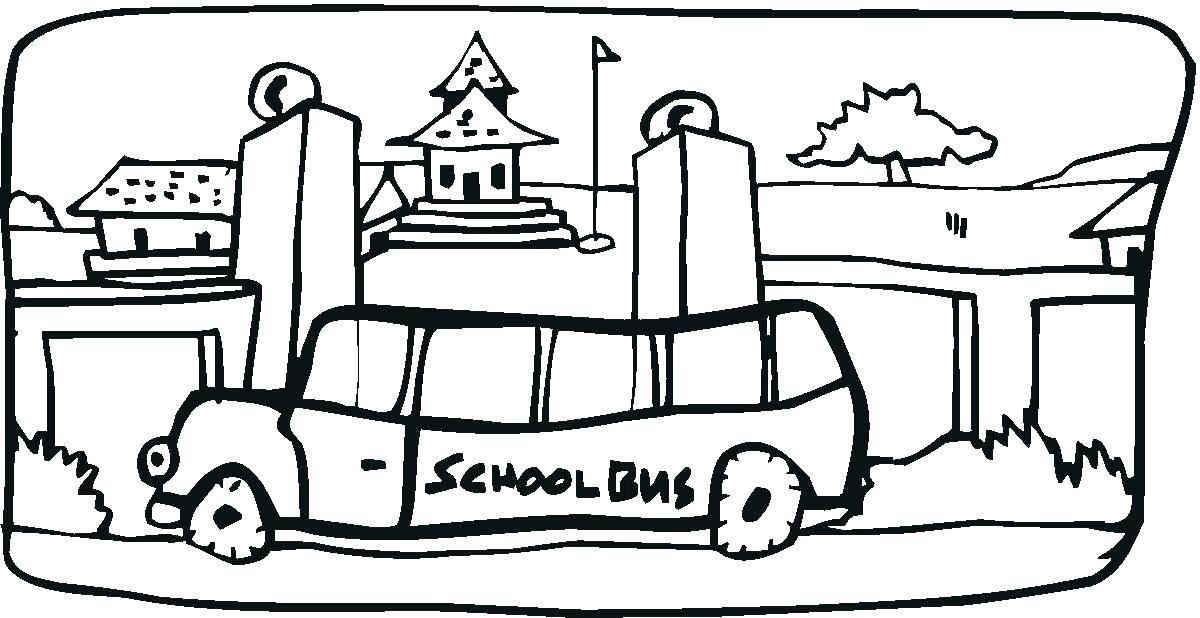 1200x618 School Bus Coloring Book Also Bus Safety Coloring Pages School Bus
